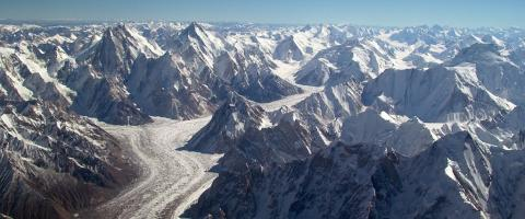 Baltoro Glacier in the Karakorum range