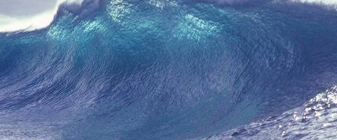 Large tsunami wave